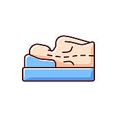 Incorrect sleeping position RGB color icon