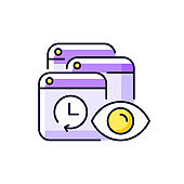 Tracking search history purple RGB color icon