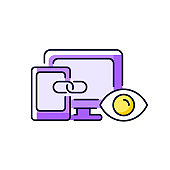 Cross-device tracking purple RGB color icon