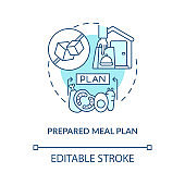 Prepared meal plan concept icon