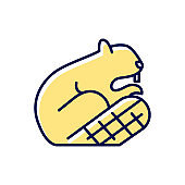 Beaver RGB color icon