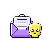Email phishing purple RGB color icon