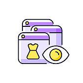 Online behavioral tracking purple RGB color icon
