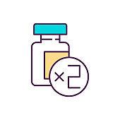 Two-dose vaccination RGB color icon