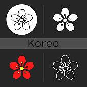 Cherry blossoms dark theme icon