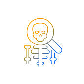 Anatomy gradient linear vector icon