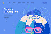 Opticians shop - medical insurance web template