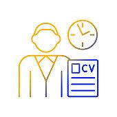 Job applicant gradient linear vector icon