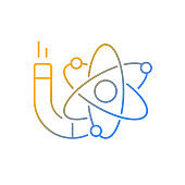 Physics gradient linear vector icon