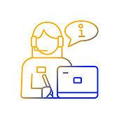 Receptionist gradient linear vector icon