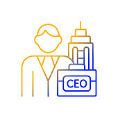 Chief executive gradient linear vector icon