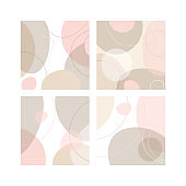 Background with organic smooth flat shapes