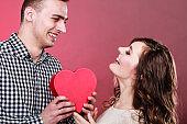Romantic couple on valentines day. Love concept.