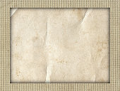 Old rough paper texture with rustic canvas textile background