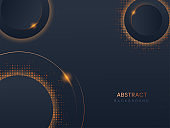 Abstract Lights Effect Background With Dotted Pattern.