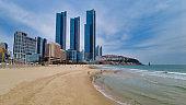 Scenery of haeundae beach, Busan, South Korea, Asia