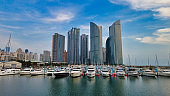 Scenery of suyeong bay bachting center, Busan, South Korea, Asia