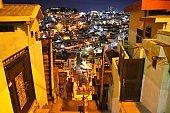 Night View of hochen village in Busan, South Korea, Asia
