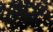 Gold stars rain