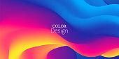 Fluid Flow. Rainbow Background. Summer Poster.