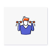 Exercise color icon