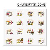온라인 음식 아이콘