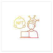 NFT artist gradient icon