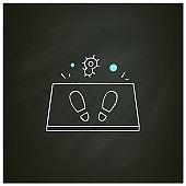 Disinfection mat chalk icon