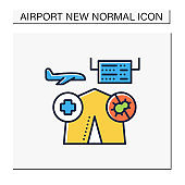Medical care point color icon