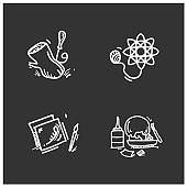 Craft hobby set glyph icons