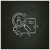 Research chalk icon