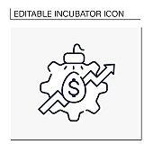 Incubator services line icon