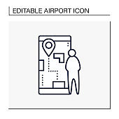 Flight preview line icon