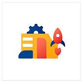 Startup company flat icon