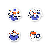 Focus mind stickers