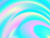 Vibrant Liquid Color. Fluid Background. Hologram