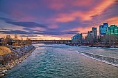 Vibrant Sunrise Sky Over The Peace Bridge