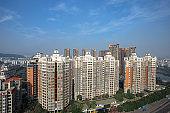 Asia, China, Guangzhou, Aerial View, river,Building