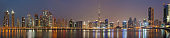 Dubai - The evening panorama over the new Canal