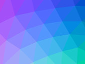 Triangular colorful gradient mesh, 3d pattern