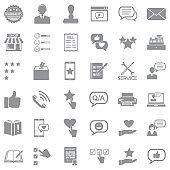 Complaint Icons. Gray Flat Design. Vector Illustration.