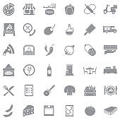 Gray flat icons