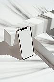 흑백 아이폰 목업 템플릿