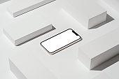 Blank screen smart phone mockup, template