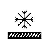 Thermal underwear glyph icon. Snowproof material. Thermal insulated fabric feature