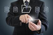 Document folder file cloud computing computer network security