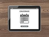 Calendar schedule business tablet