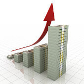 Money finance recovery business growth chart graph