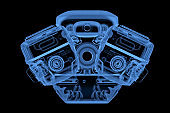 X-ray car engine or machine