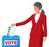 Woman on election